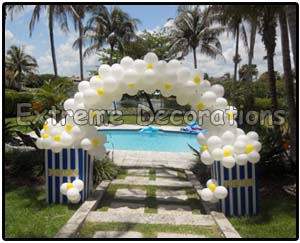 Popcorn Balloon Arch - hollywood - movie theme