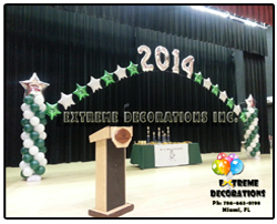 Graduation balloon decoration arch