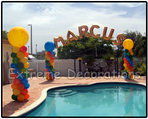 personalized balloon arch Miami