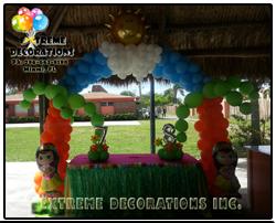 Luau Balloon arch - Hawaiian - aloha