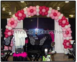 Balloon Arch DIVA Theme - Flower Hot Pink - Pink decorations
