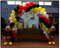 Balloon Arch Mickey Mouse Airwalkers - Kids party