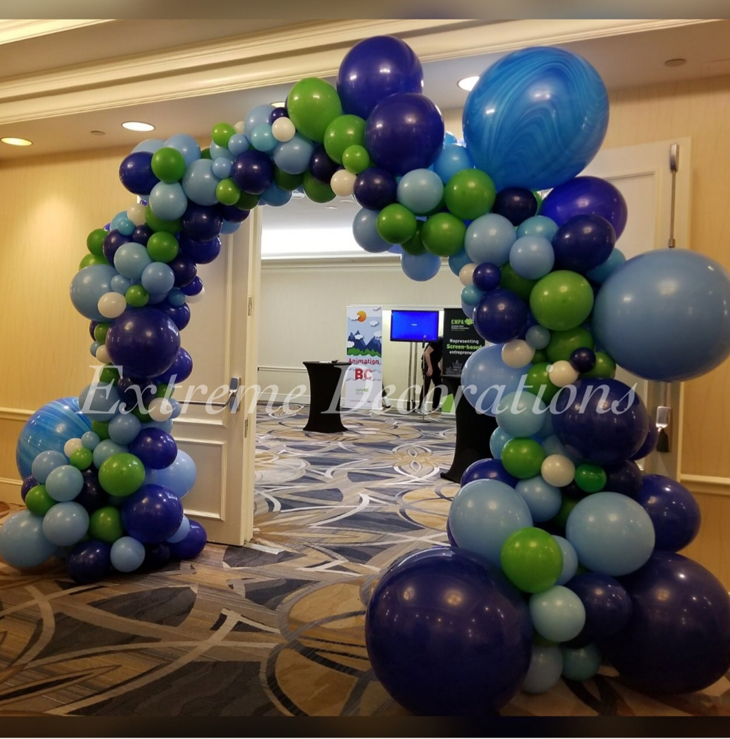 Organic balloon garland arch for Store Entrance