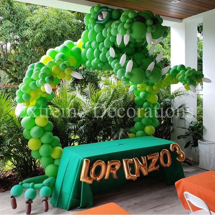 Giant Dinosaur balloon arch