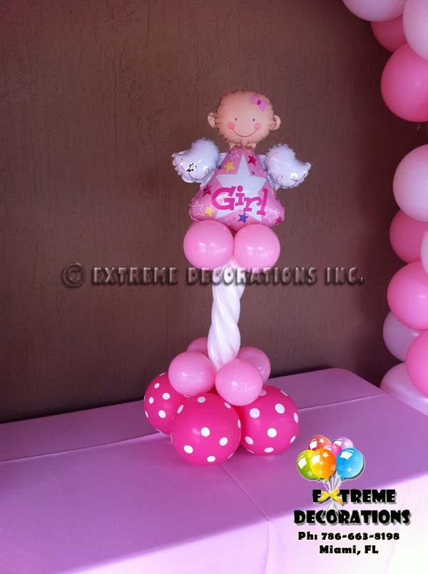 Baby Shower balloon centerpiece Angel