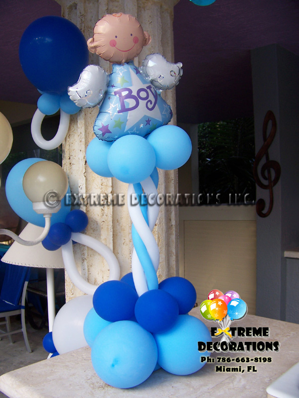 Baby shower balloon centerpiece Miami
