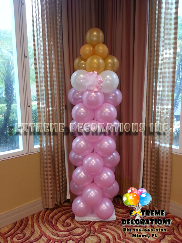 Baby Bottle balloon column party decorations