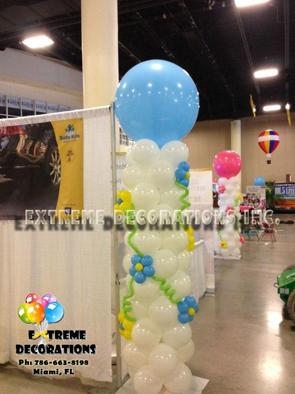 Baby Shower Its a boy balloon column