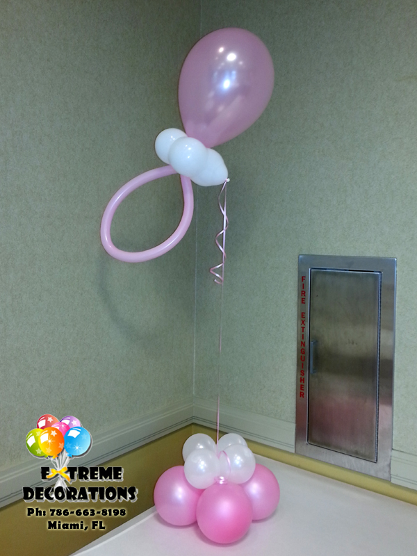 baby shower balloon pacifier