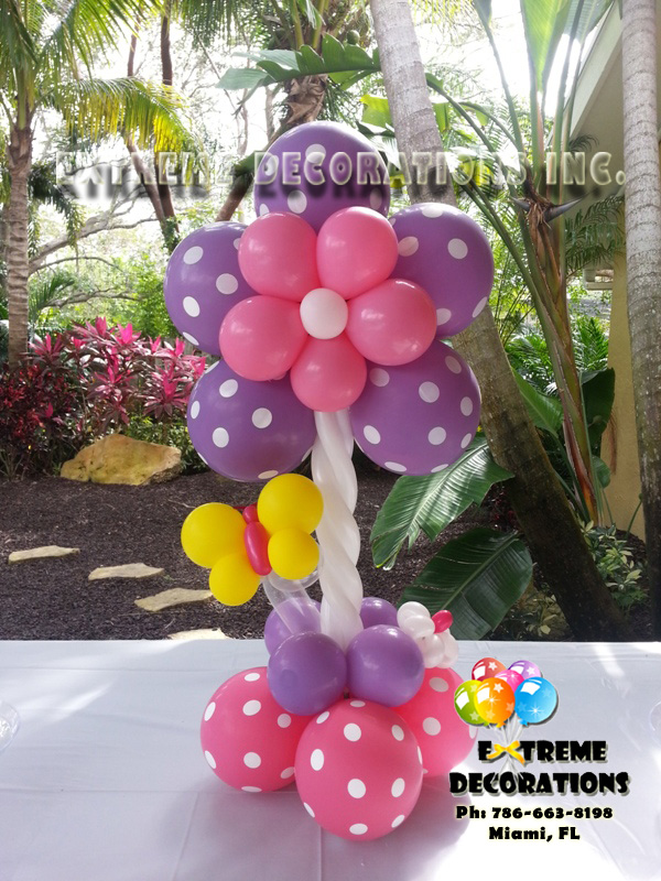 Baby Shower butterfies flowers balloon