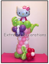 Hello Kitty Balloon party centerpiece model 4