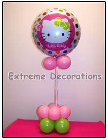 Hello Kitty Balloon party centerpiece model 3