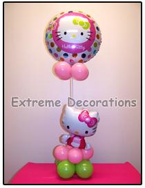 Hello Kitty Balloon party centerpiece model 8
