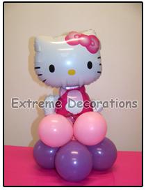 Hello Kitty Balloon party centerpiece model 1