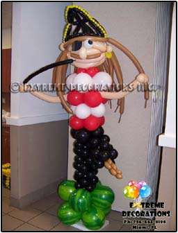 Pirate balloon sculpture - balloon decorations