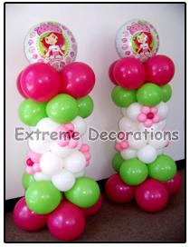 Balloon Decorations on Party Decorations Miami   Hello Kitty Balloon Party Centerpieces