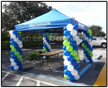 Tent balloon decoration - balloon columns miami
