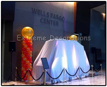 Balloon decoration corporate event opening