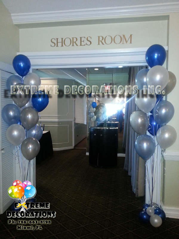 Floor balloon bouquet party decoration miami