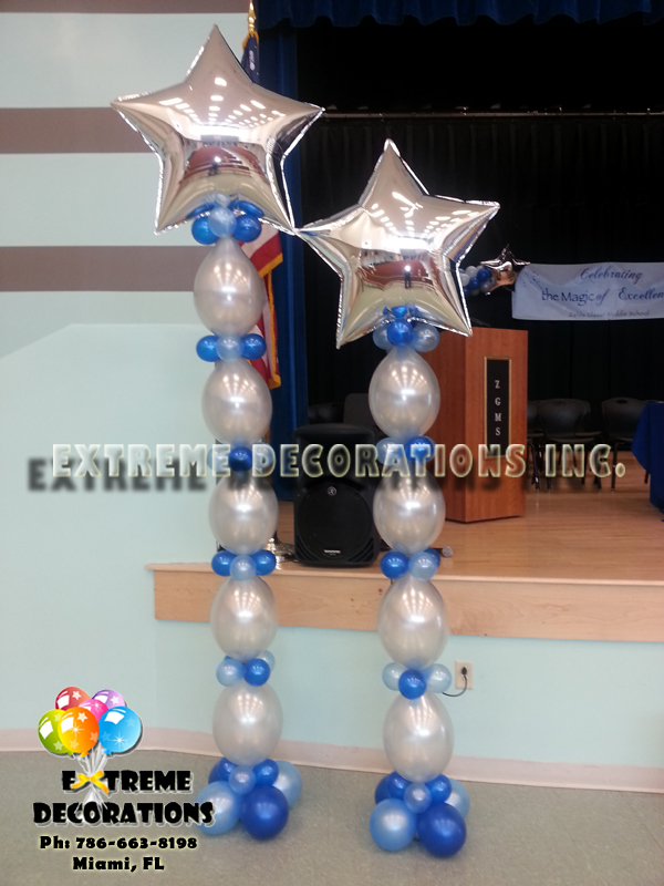 QuickLink Balloon column with star on top