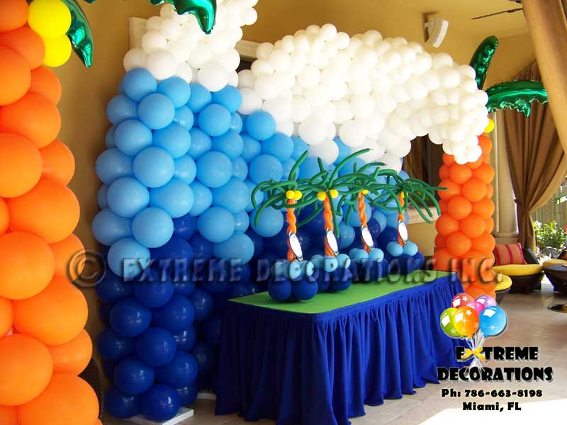 Balloon wave for beach - surf party