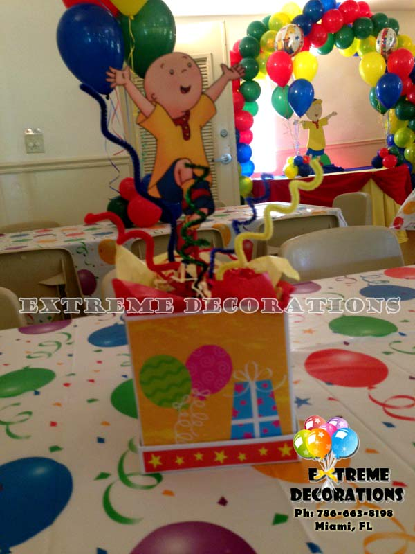 Caillou kids birthday party centerpiece -