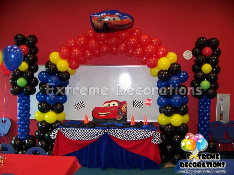 Cars Cake table decoration / Balloon Decoration Miami