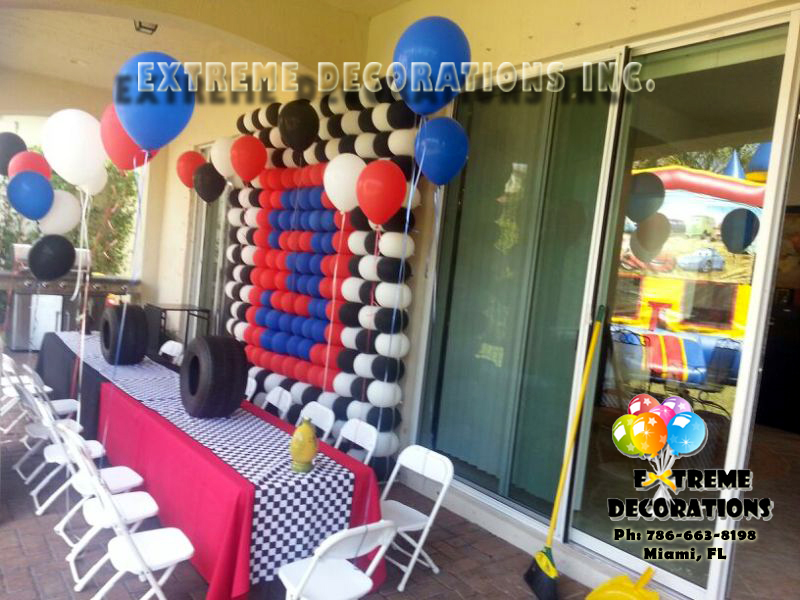 Cars theme Balloon Wall / Balloon Decoration Miami