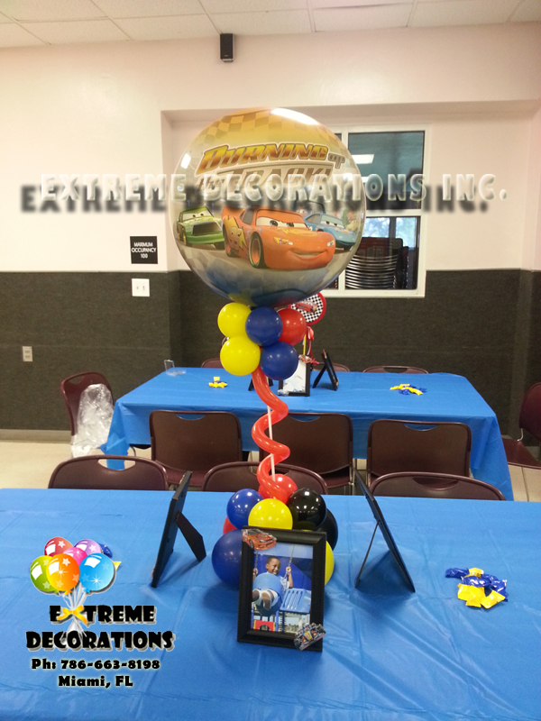 Cars Balloon Centerpiece Miami