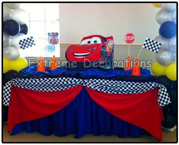 Cars McQueen Cake table decoration