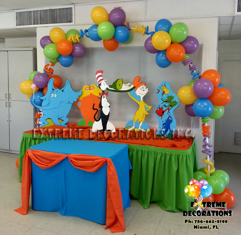 Party decorations miami balloon sculptures for B day party decoration