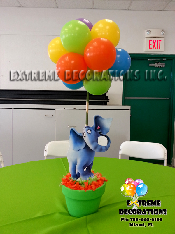 Dr Seuss Horton party centerpiece