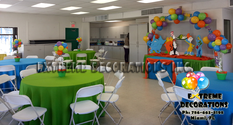 Dr Seuss Characters Kids Party Decorations Miami
