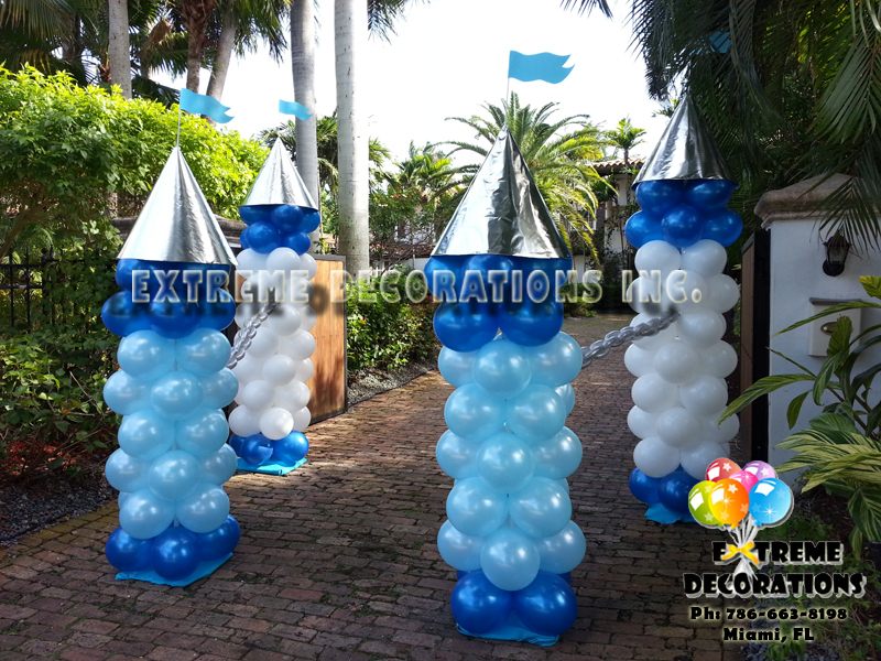 Balloon castle entrance