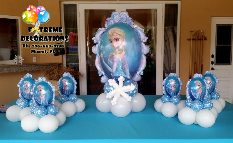 Frozen balloon centerpieces imgkid the image