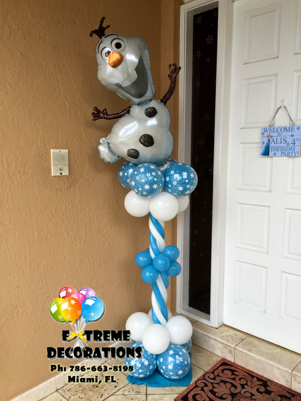 Party decorations miami frozen balloons