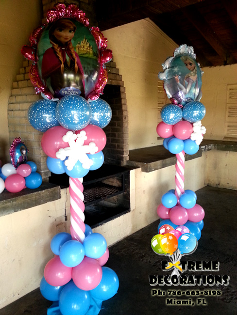 Frozen balloon columns