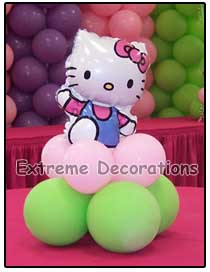 Hello Kitty Balloon Centerpieces