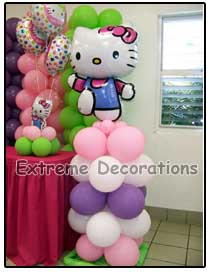 Hello Kitty Mini Balloon Column