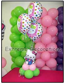 Hello Kitty Balloon Arrangement - centerpiece