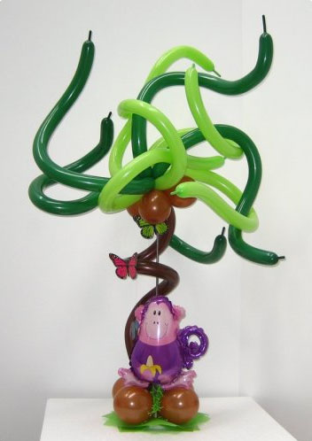 Jungle theme Monkey centerpiece