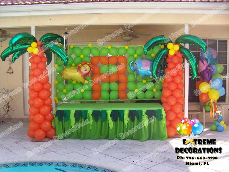 Party decorations miami kids party decorations l the lorax for Balloon decoration for kids party