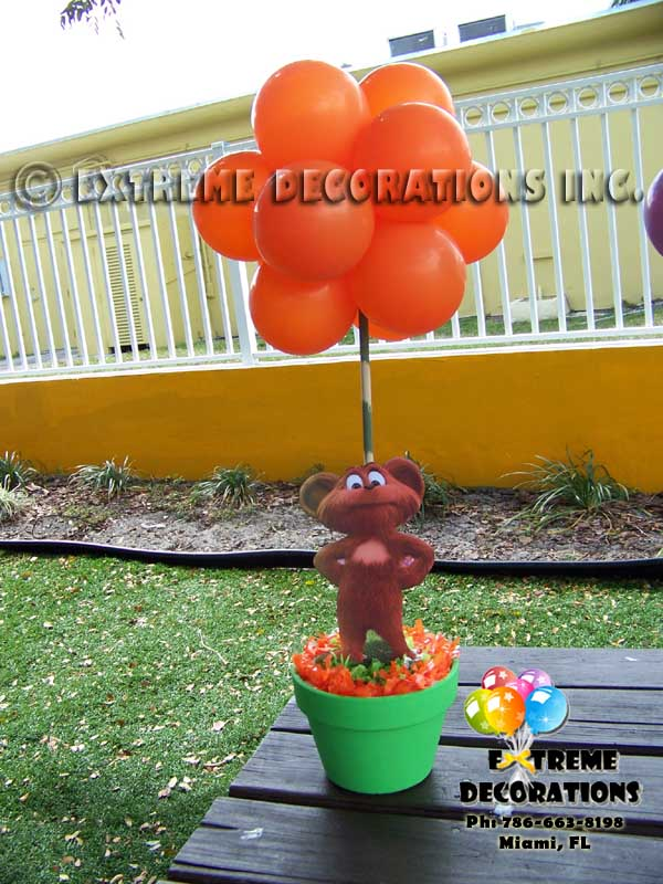 Lorax Kids Party Decoration l Topiary Balloon centerpiece l truffula trees l Miami