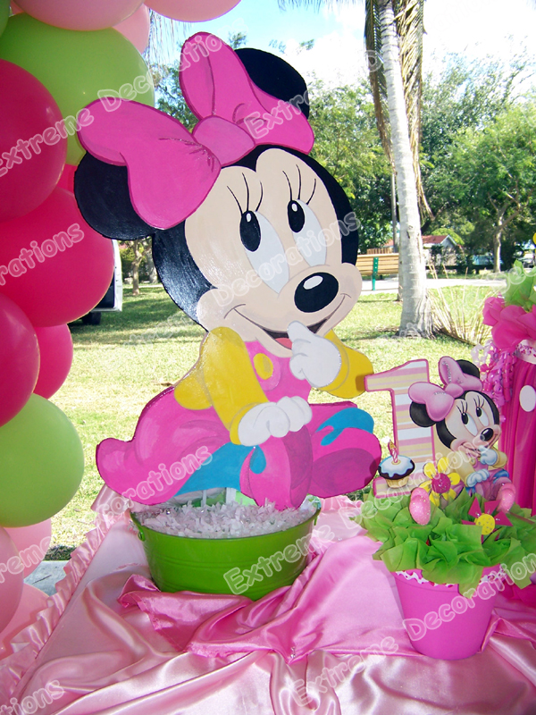 Baby Minnie cake table Birthday Party decoration