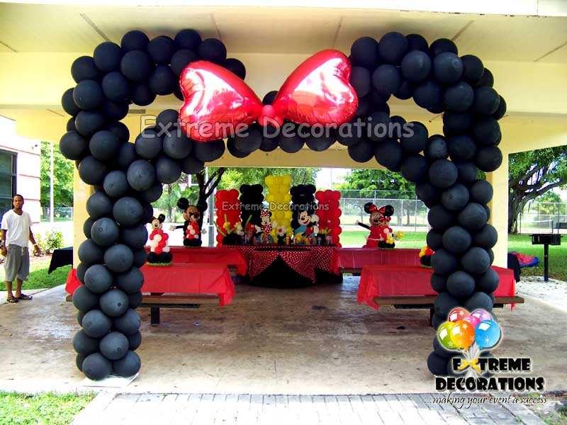 Minnie Mouse ears Balloon Arch with Bow