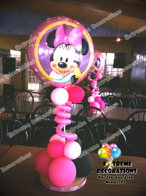 Minnie Mouse Birthday Party Centerpiece Model 2