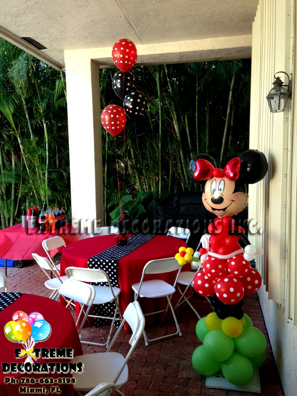 Minnie party decoration tablecloth