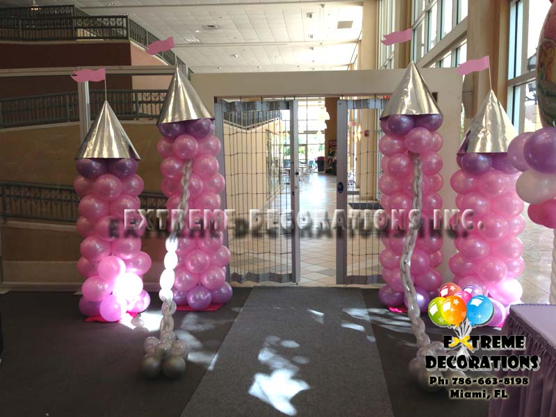 Princess Castle Balloon entrance Pink