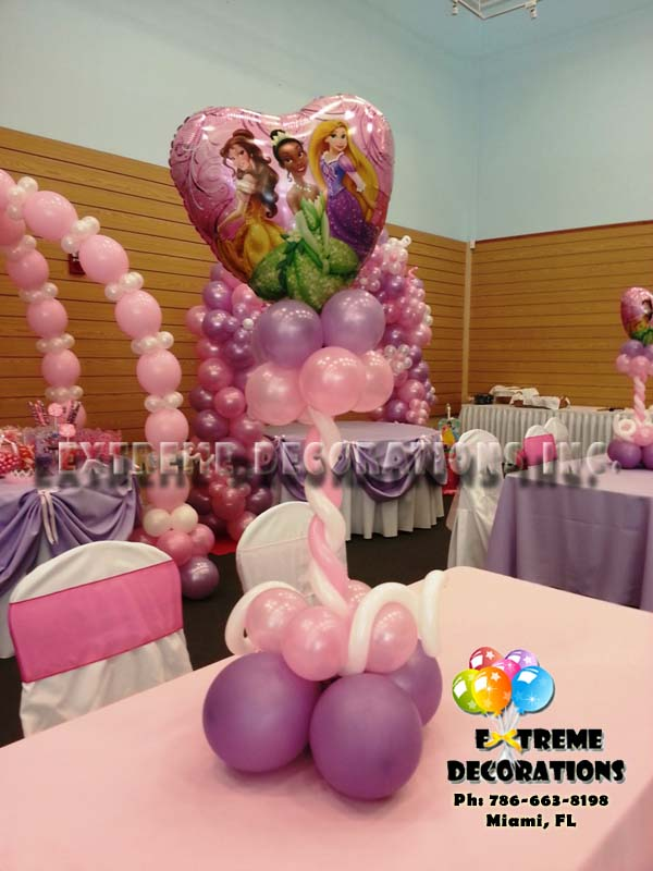 Party Decorations Miami Princess Centerpiece