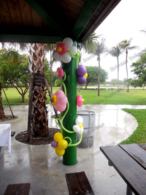 Party Decorations Miami Baby Shower Balloon Decorations